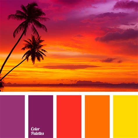 sunset color colors of sunset color palette ideas