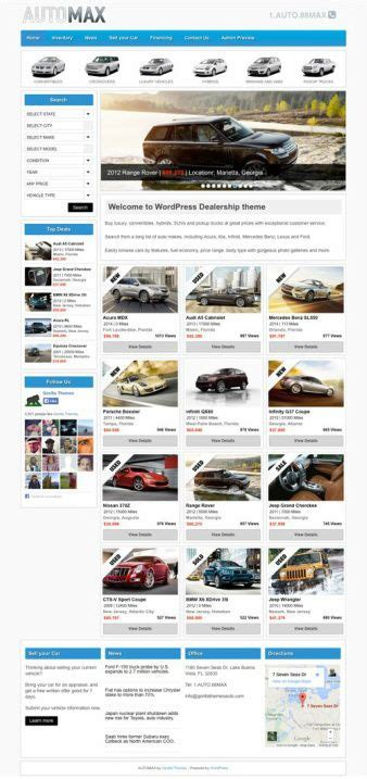 themes wordpress demo gorilla themes automax review must read