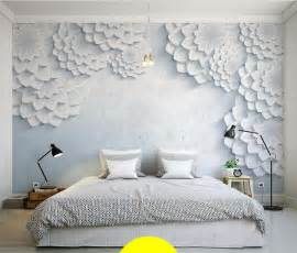 custom modern minimalist white 3d flower photo mural wallpaper living contemporary wall murals wallpaper wall covering ideas natural wall