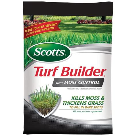scotts turf builder 10 000 sq ft with moss lawn