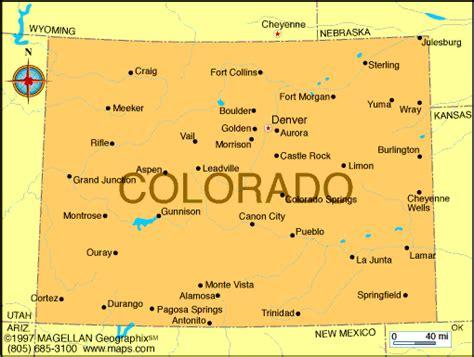 map of cities in colorado colorado map infoplease