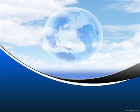 Blue Globe Backgrounds For Powerpoint 3d Ppt Templates Globe Powerpoint Template