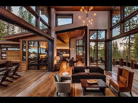 homes interiors and living mountain modern lodge by greenwood homes youtube