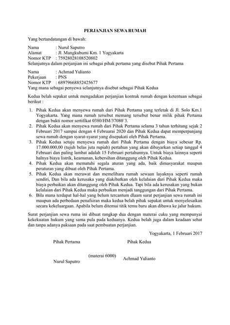format surat pernyataan damai artikel contoh surat perjanjian