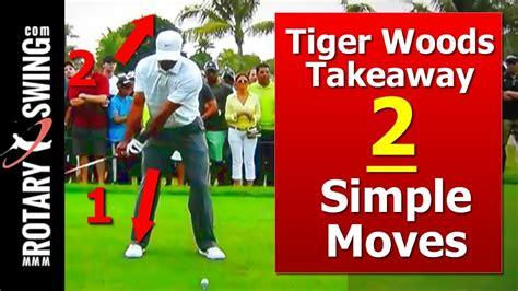 learn golf swing tiger woods golf swing learn his takeaway w 2 simple