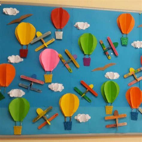 craft work for kindergarten air balloon bulletin board 1 flight bessie