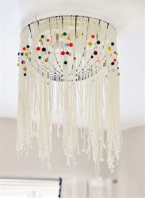 DIY Eames Inspired Bohemian Pendant Lamp {Cover} w/out Rewiring  love Maegan