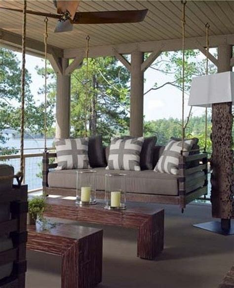 swinging porch beds how to build a hanging daybed swing diy projects for