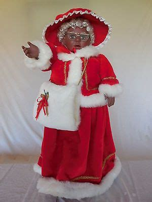 rare santas  african american  claus animated figure  black christmas african
