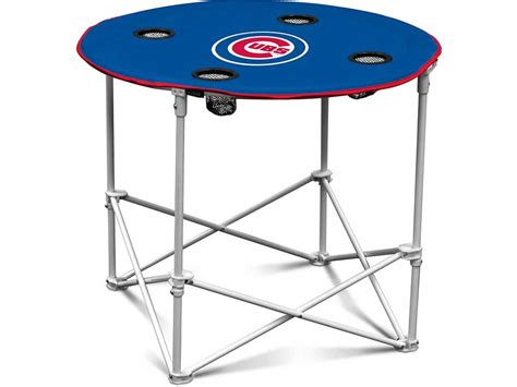 chicago cubs table chicago cubs folding fabric round table lids com