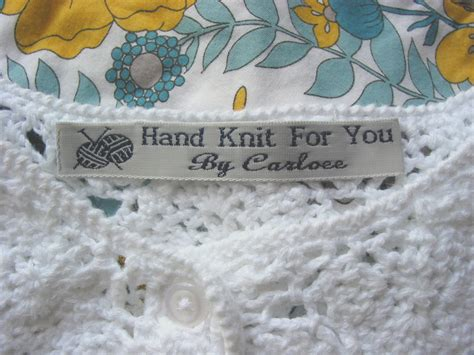 Custom Fabric Labels For Handmade Items - woven labels for handmade items custom sewing labels