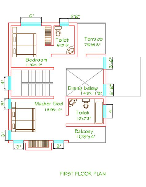 900 Sq Ft House Plans by Dreamghar Com Free Home Plans