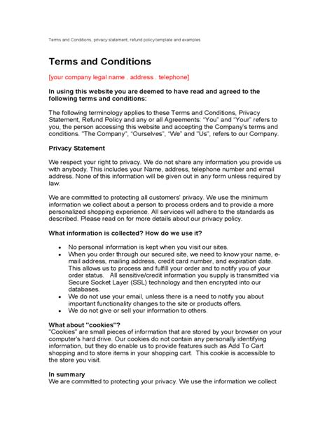 Terms And Conditions Template 6 Free Templates In Pdf Word Excel Download Terms And Conditions Template Pdf