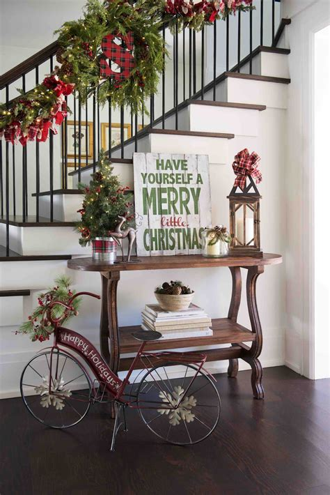 decorate  entryway  christmas christmas