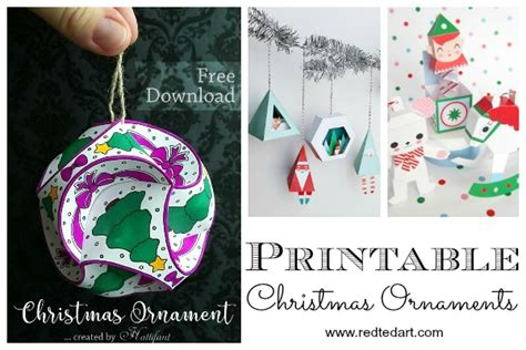 printable paper christmas ornaments paper christmas ornament diy ideas red ted art s blog
