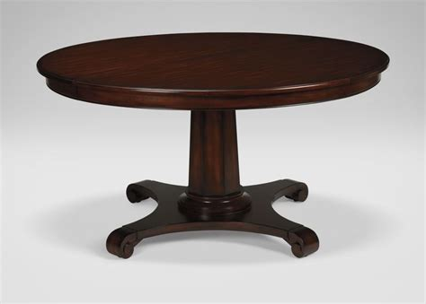 Ethan Allen Dining Room Tables Round by Sanders Round Dining Table Ethan Allen 58 Quot Extends To 78