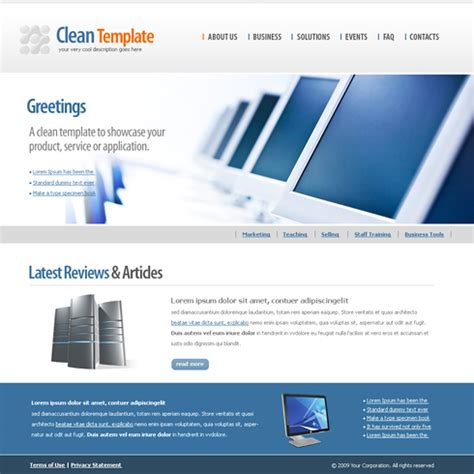 technology web template 6175 computers technology