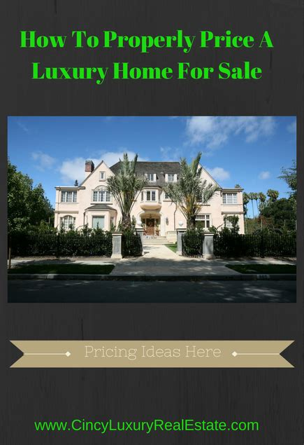 how to properly price a luxury home for sale greater