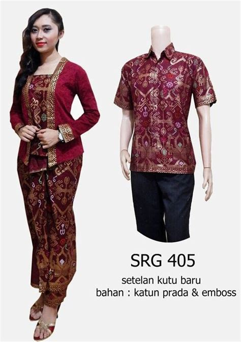 Batik Sarimbit Kebaya Baju Pesta Pasangan Seragam D1948 jual batik sarimbit kebaya baju pesta pasangan