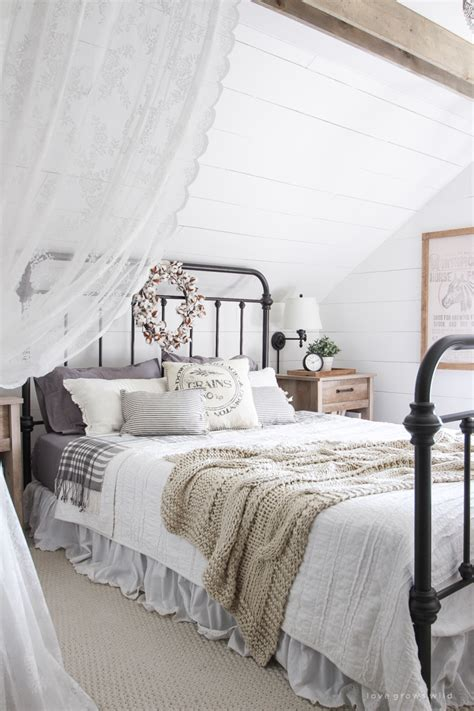 farmhouse style bedding fall bedroom fall into home tour love grows wild