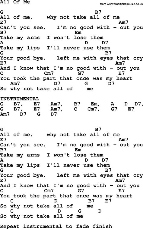 best of me testo willie nelson song all of me lyrics and chords
