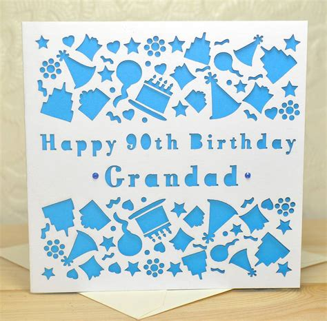 birthday card personalised laser cut birthday card by sweet pea design