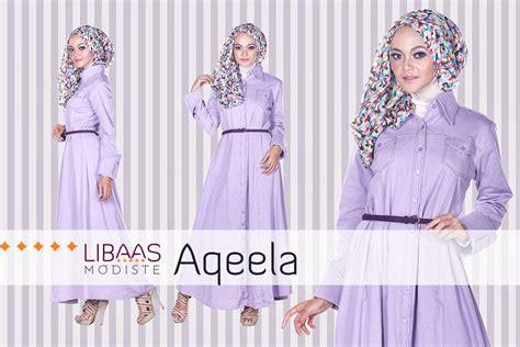 Gamis Aqeela aqeela by libaas modiste purple baju muslim gamis modern