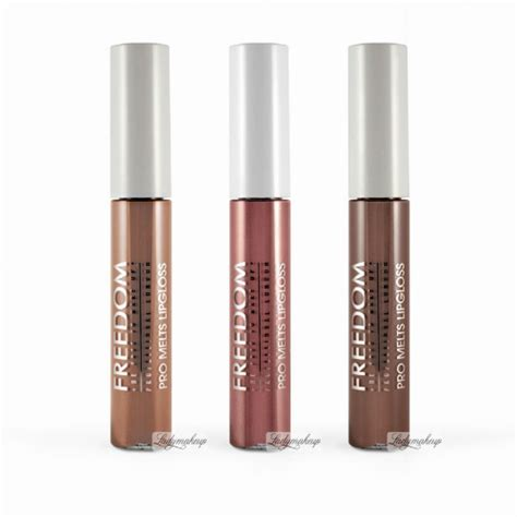 Lipgloss Naked5 Longlasting freedom pro melts lasting color collection 3 lip glosses