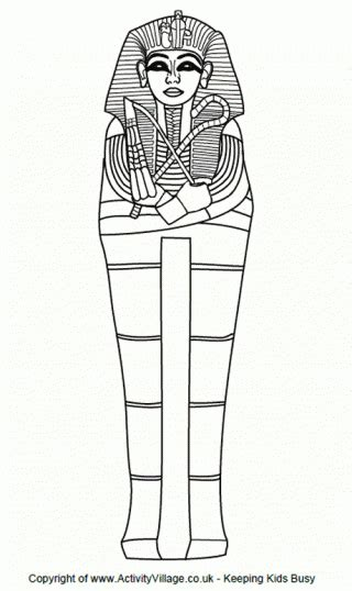 Egyptian Mummy Case Template