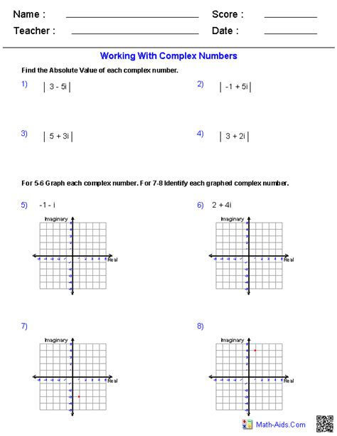 Algebra 2 Worksheets Answers by Algebra 2 Worksheets Dynamically Created Algebra 2