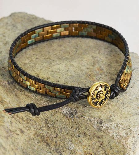 how to make jewelry with leather cord projects lashed wrap bracelet with half tila 174