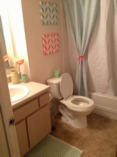just peachy bathroom makeover mint and coral