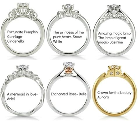 disney s princess engagement rings jewelry pieces