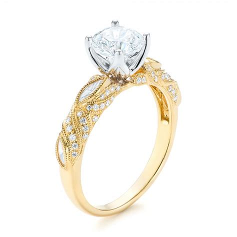 custom two tone engagement ring 103131