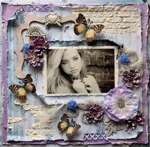premade scrapbook page 12 x 12 shabby chic art layout