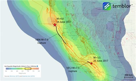 california quake map watcher s l weekend earthquakes along the san andreas