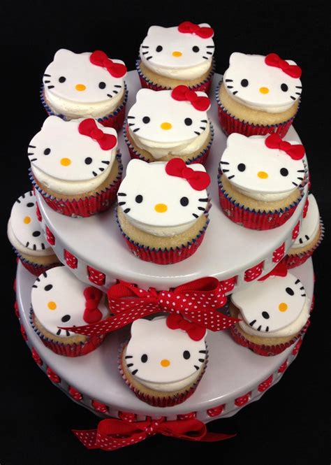 hello kitty themed cake hello kitty themed cupcakes cakecentral com