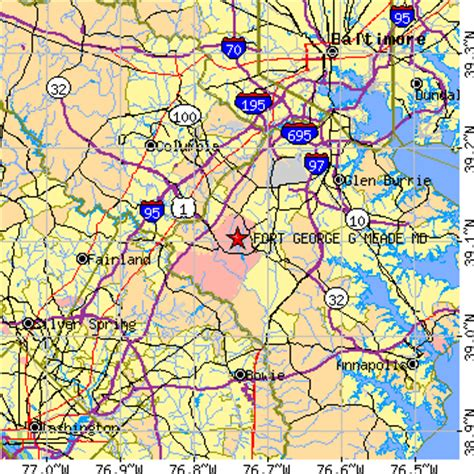 maryland map fort meade map of ft meade md pictures to pin on pinsdaddy