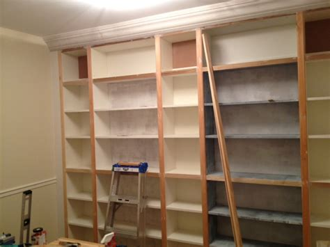 Ikea Hack Bookshelves - from billy to built ins storefront life