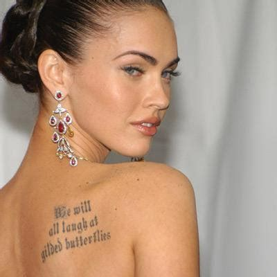 megan fox tattoos megan fox tattoos