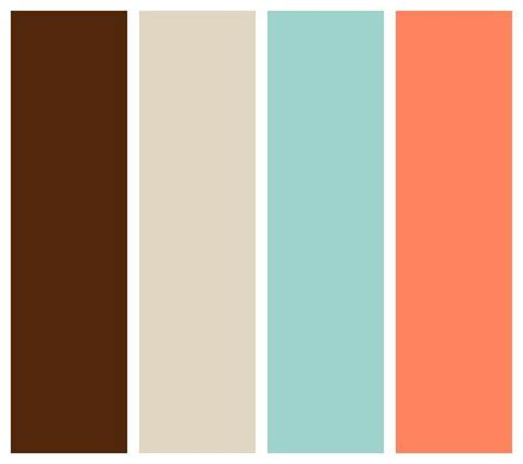 colors that go with salmon chocolate beige seafoam and salmon color palette my