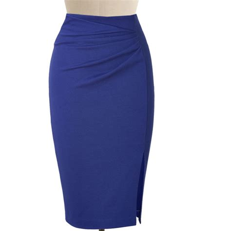 blue pencil skirt dress