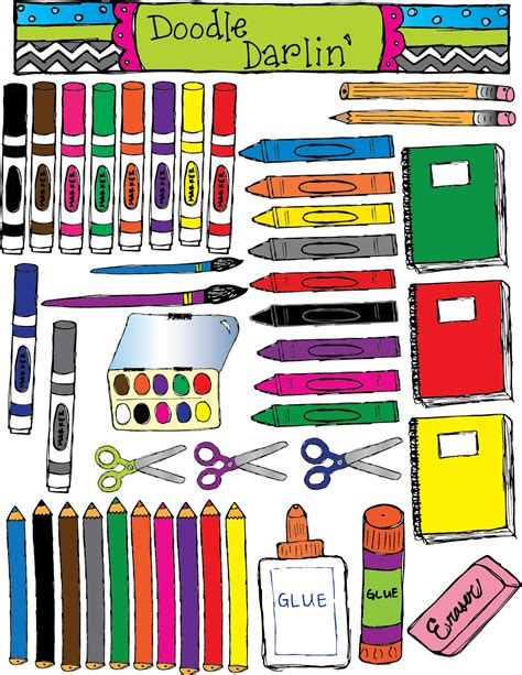 for school doodle darlin shapes and tools for school
