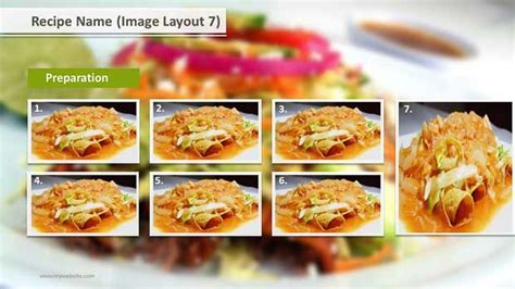 Recipe Layouts Ppt Template Slide Ocean Recipe Powerpoint Template