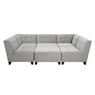Gray Modular Sectional Sofa Gray Tufted Modular Sectional Sofa
