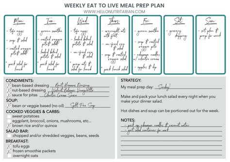 printable meal prep plan eat to live food prep guide hello nutritarian