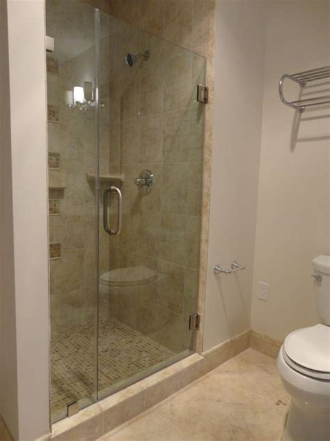 Frameless Shower Door In 3 8 Quot Thick Clear Tempered Glass Thick Glass Shower Doors