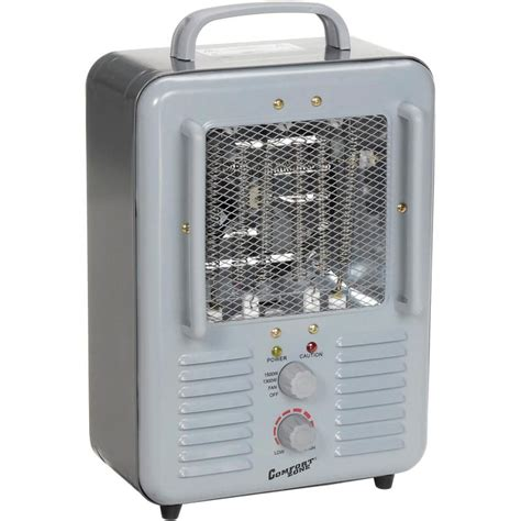 comfort zone heater fan comfort zone cz798 deluxe milkhouse heater gray 1300 1500w