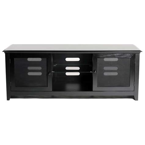 transdeco wood and glass tv cabinet for up to 65 in flat