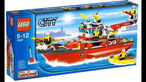 lego little boat lego city 7207 fire boat lego speed build youtube